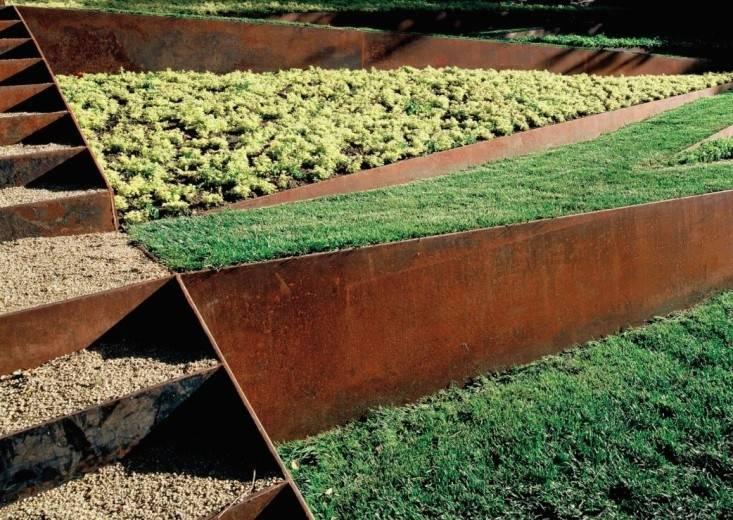 Jardín decoración en acero